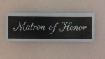 1 - 100  x Matron of Honor word stencils for etching on glass  craft hobby glassware  wedding favor